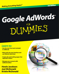 Google AdWords For Dummies cover
