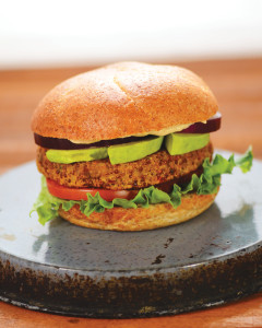 dreena-Umami Almond Burger